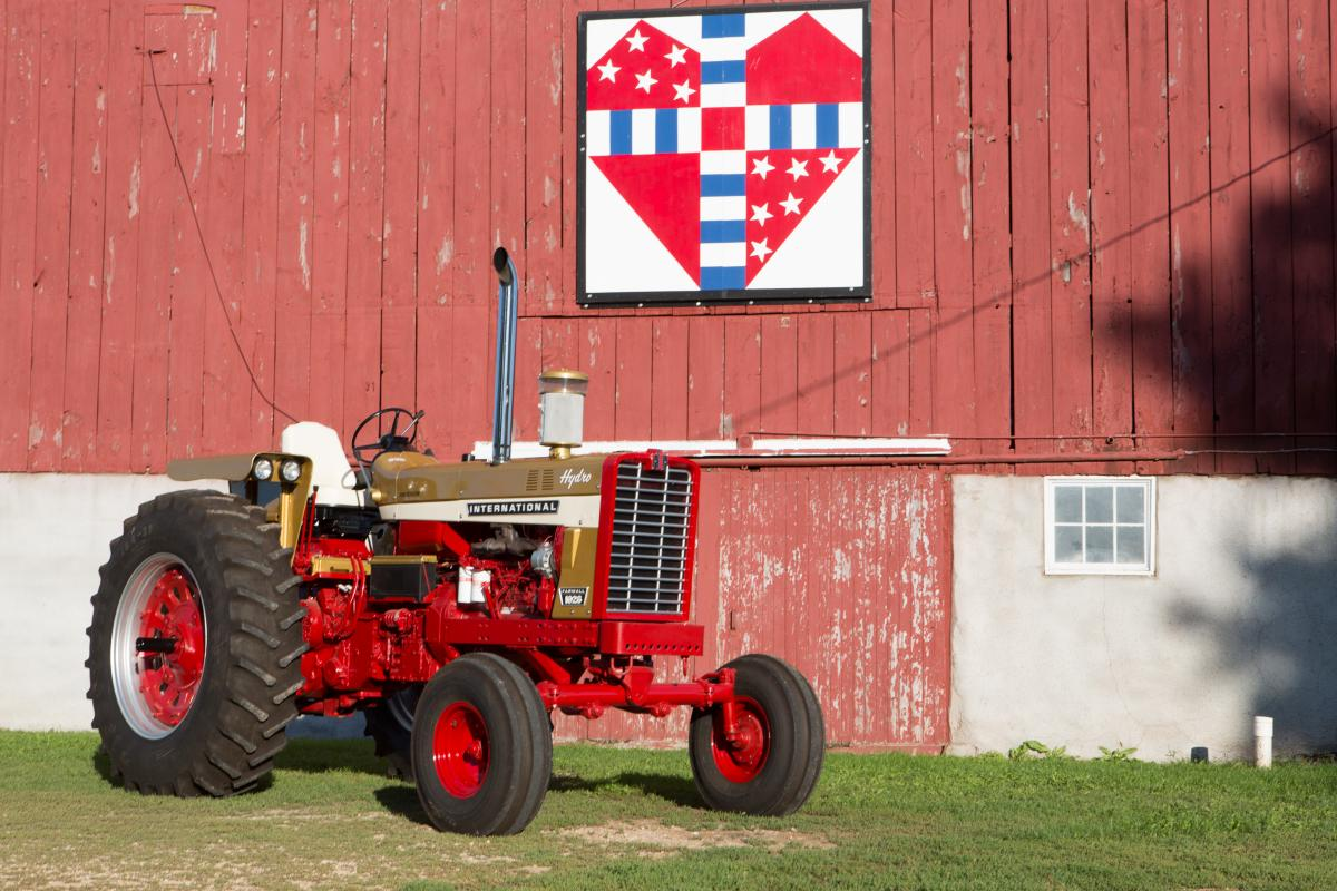The brothers had the tractor's restoration complete only a few days prior  to the 2009 Red Power Round Up. Unfortunately, there was a flaw.