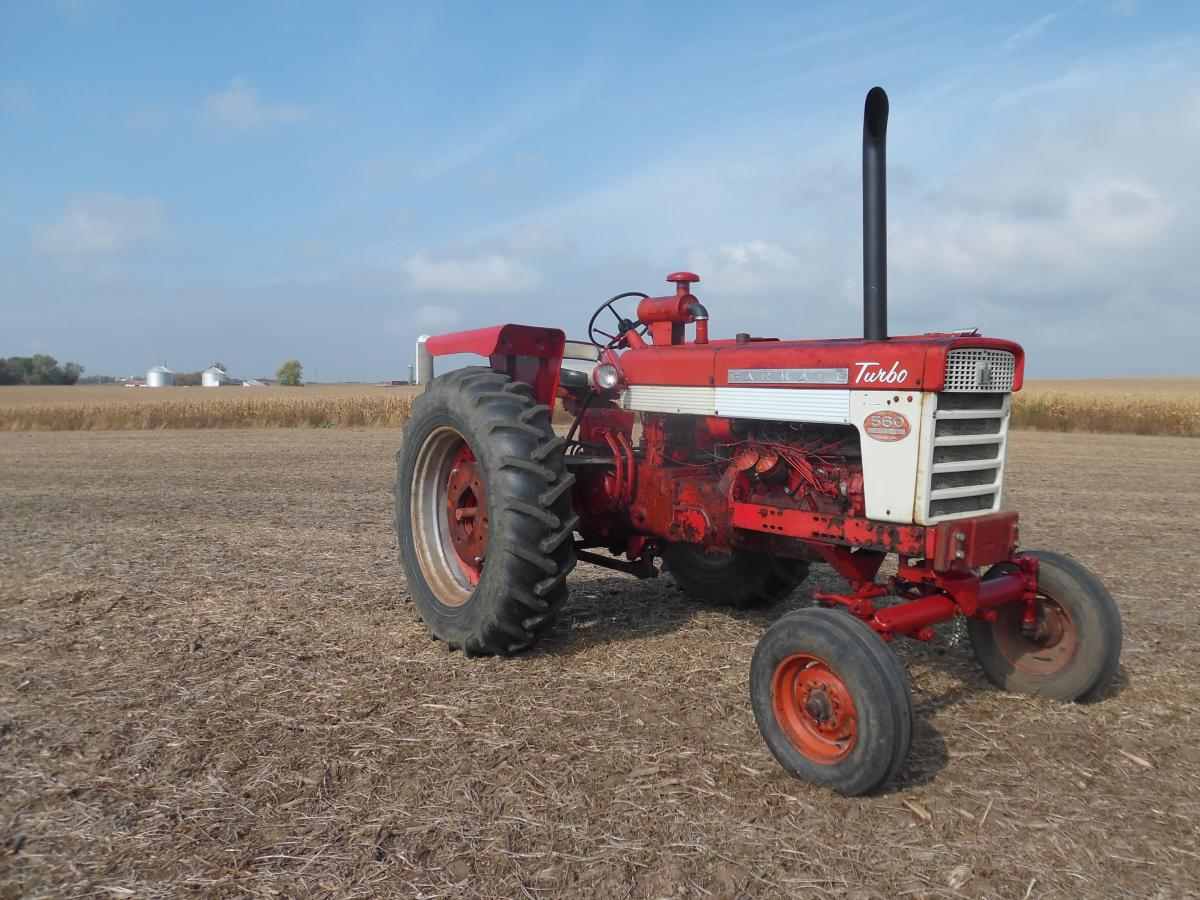 This 1961 Farmall 560 Diesel Is Equipped With The IH Post Factory Turbocharger Kit Original Owner Was A Minnesota Dairy Farmer Who Purchased