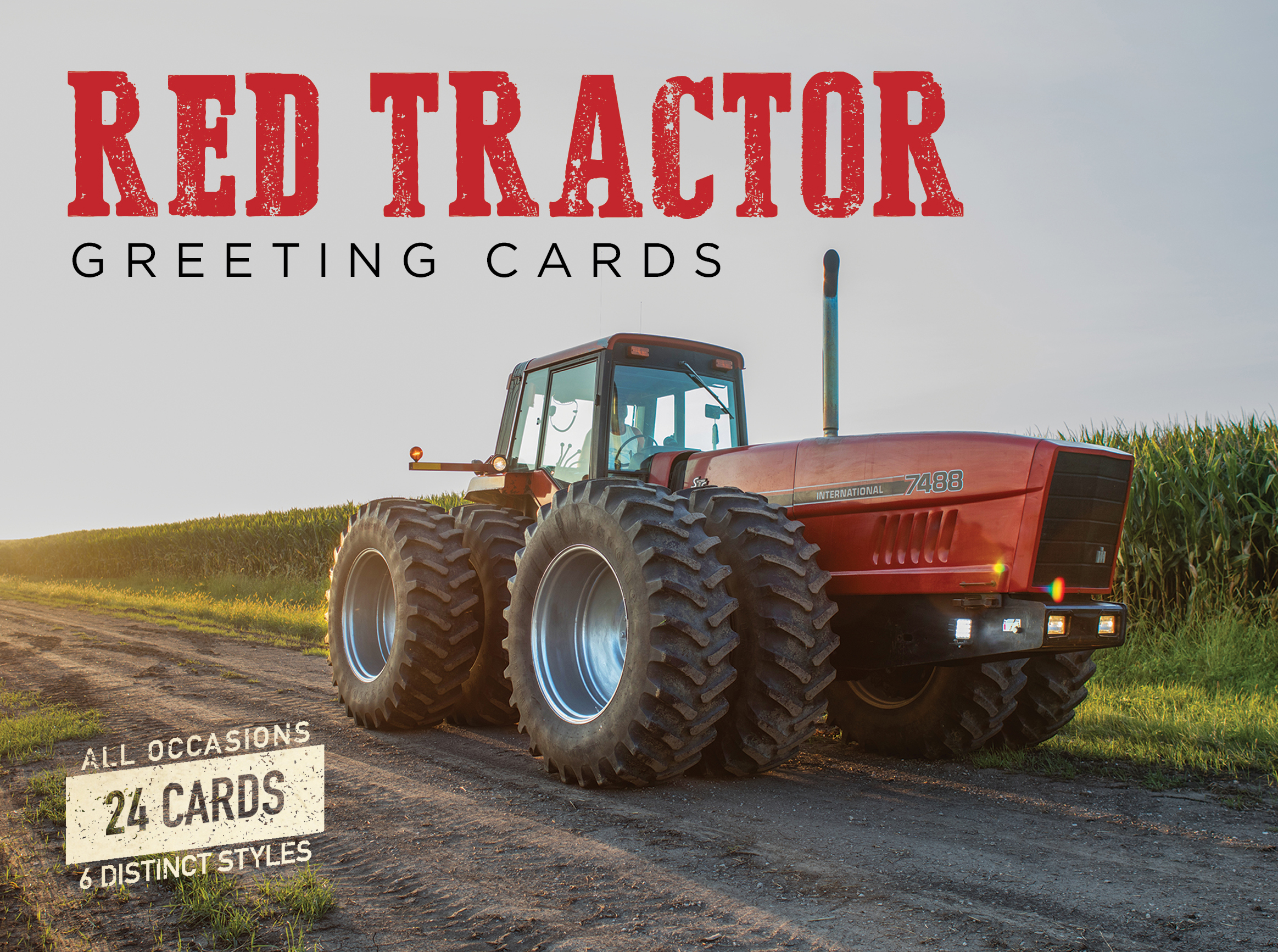 Red Tractor Greeting Cards Octane Press