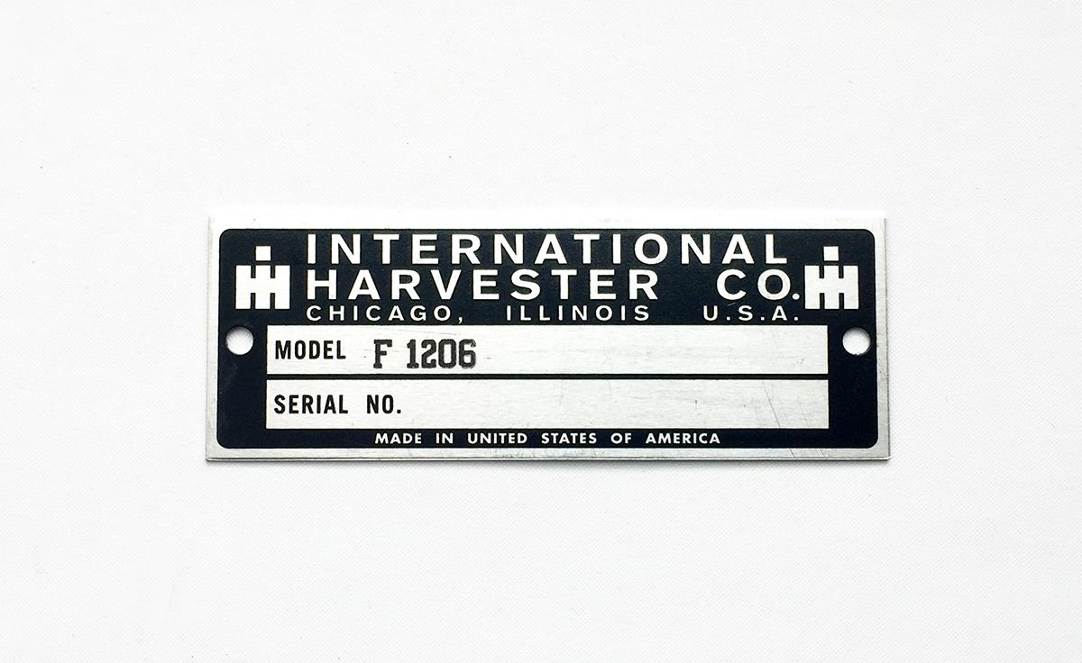 International Harvester Serial Number Plates | Octane Press