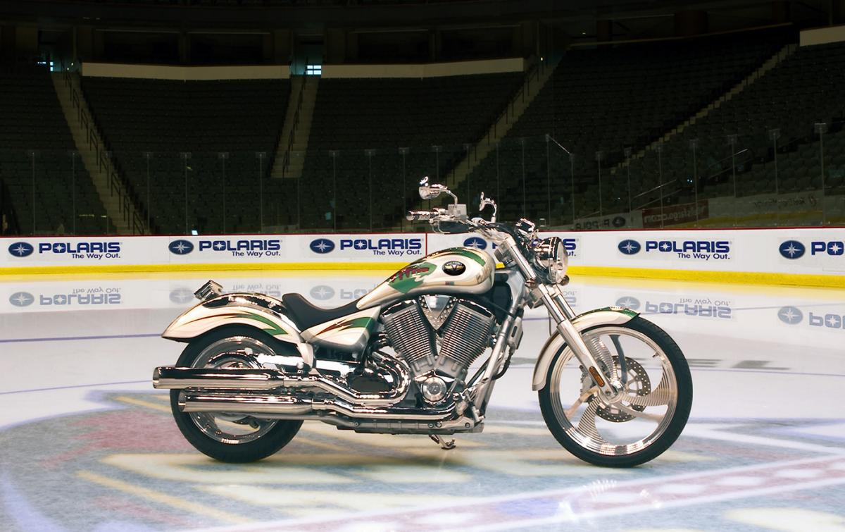This Minnesota Wild Vegas looked great, but hockey fans want to buy signed  jerseys, not motorcycles. Victory donated the bike, which was sold through  an ...